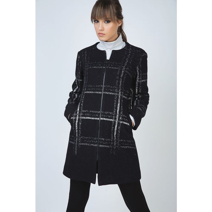 Image for Large Check Zip Coat