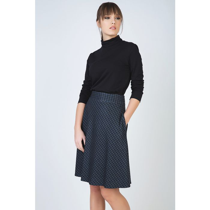 Image for Check Flare Skirt