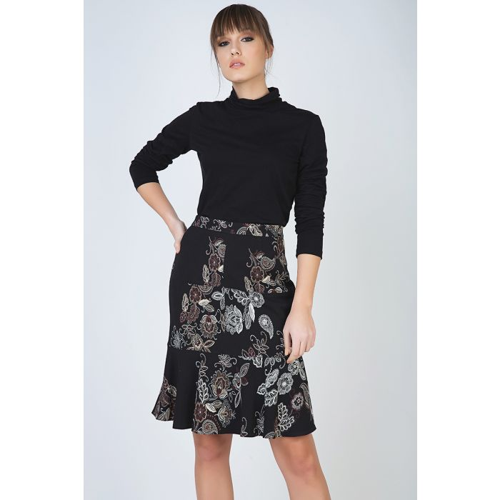 Image for Print Flare Hem Skirt