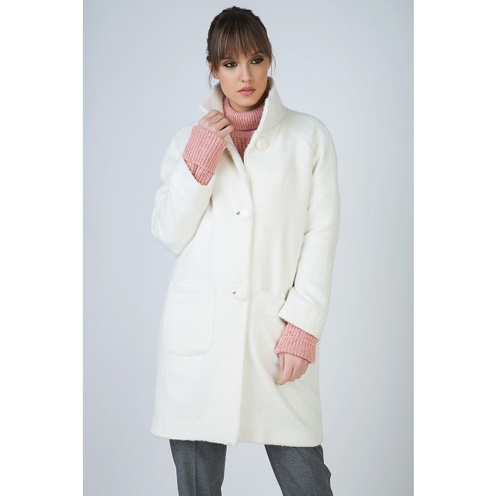 Image for Cosy Button Coat with Pockets