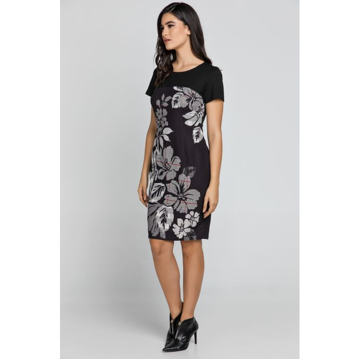 Image for Black floral dress