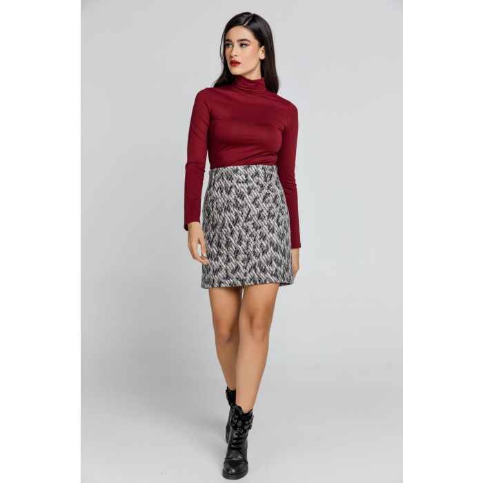 Image for Wool Blend Mini Skirt by Conquista
