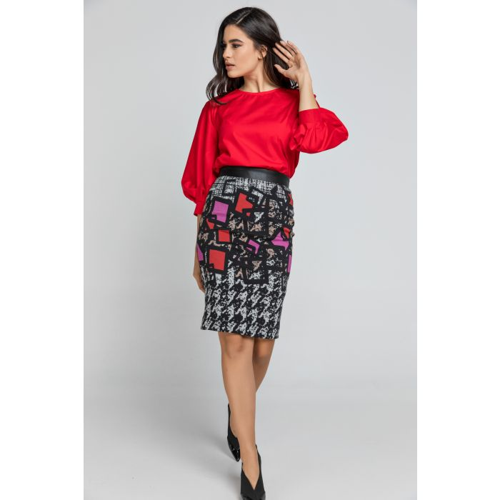 Image for Patterned Pencil Skirt