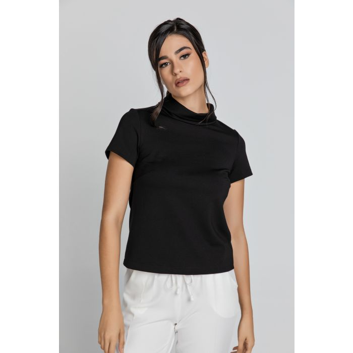 Image for Short Sleeve Black Top