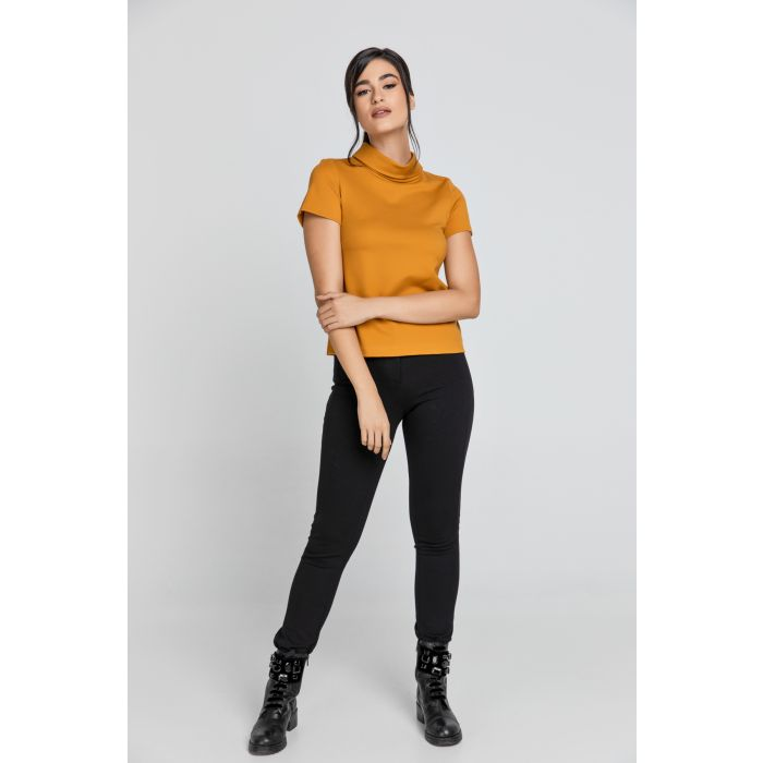 Image for Short Sleeve Mustard Top