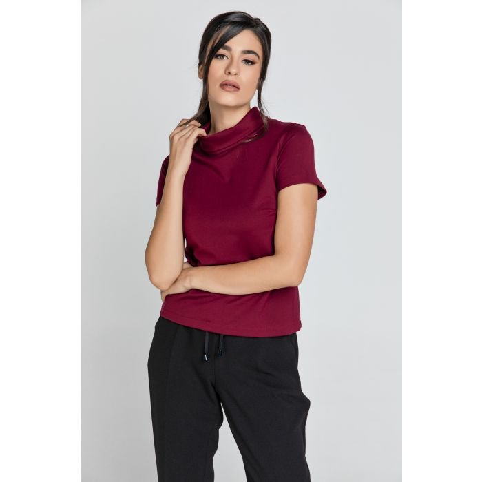 Image for Short Sleeve Burgundy Top