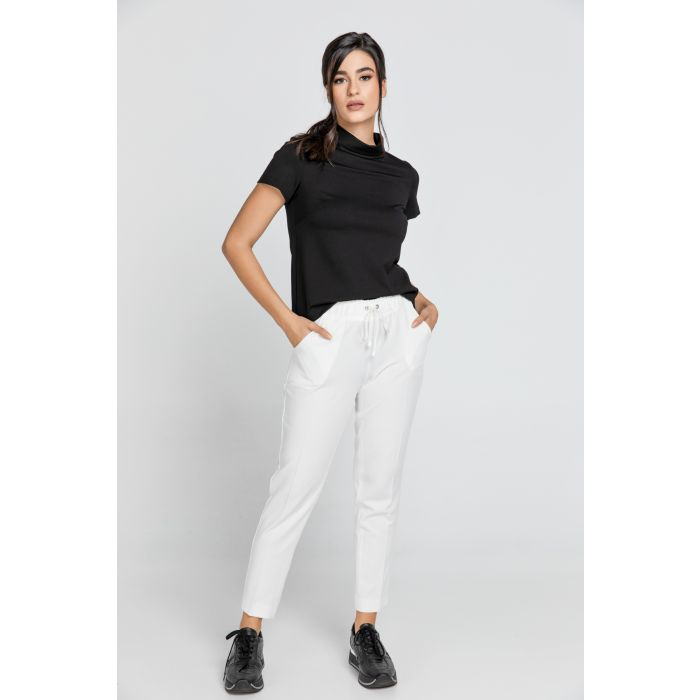 Image for Ecru Crepe Pants by Conquista