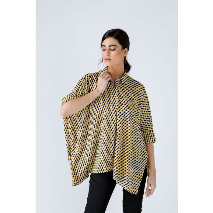 Image for Oversized Print Blouse