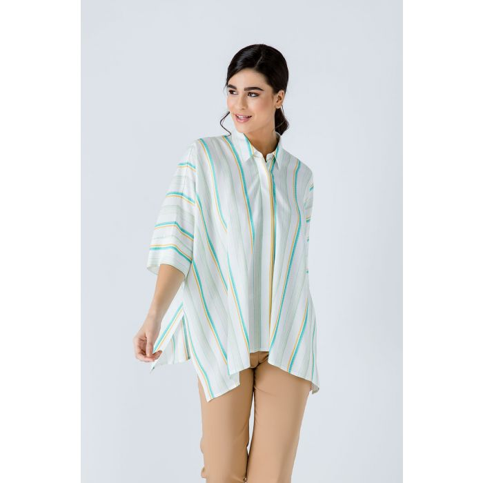 Image for Oversized Striped Blouse