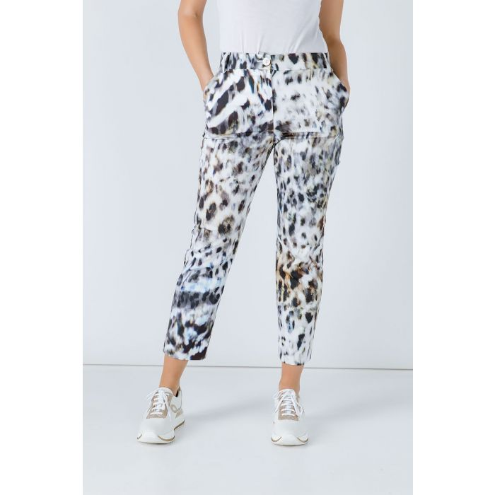 Image for Animal Print Fitted Pants