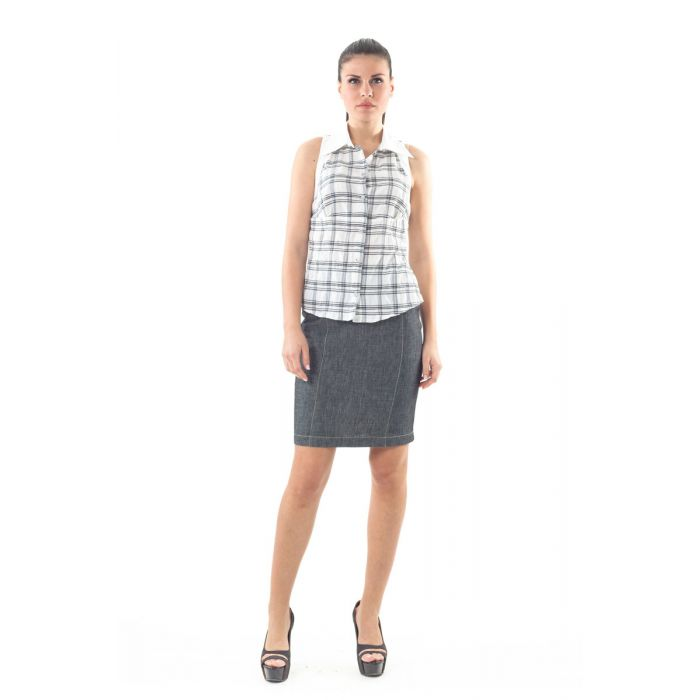 Image for Sleeveless Check Shirt