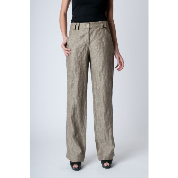 Image for Straight Linen Pants white