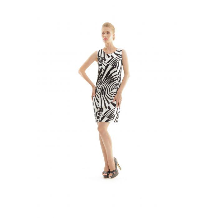 Image for Zebra Print Shift Dress