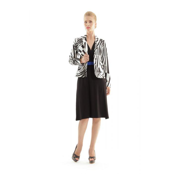 Image for Zebra Print Button Jacket