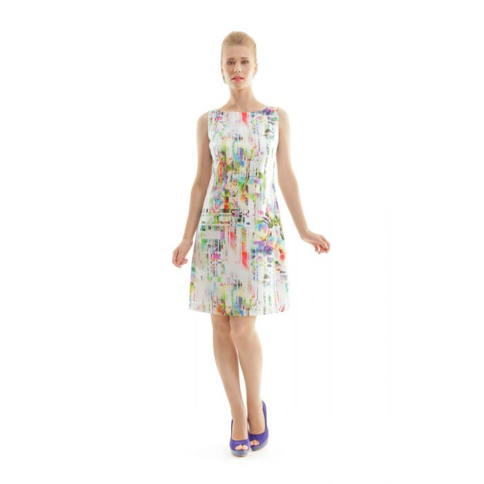 Image for Floral Print Sleeveless Dress