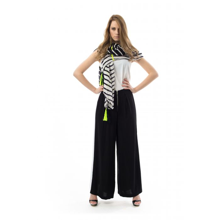 Image for Wide Leg Pants with Stripe Detail