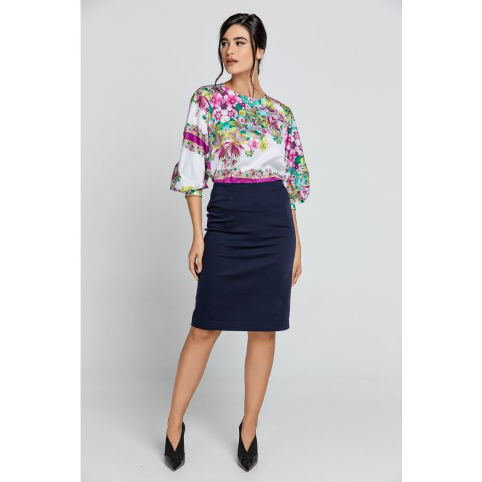 Image for Dark Blue Pencil Skirt