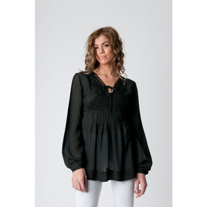 Image for Semi Sheer Ethnic Blouse