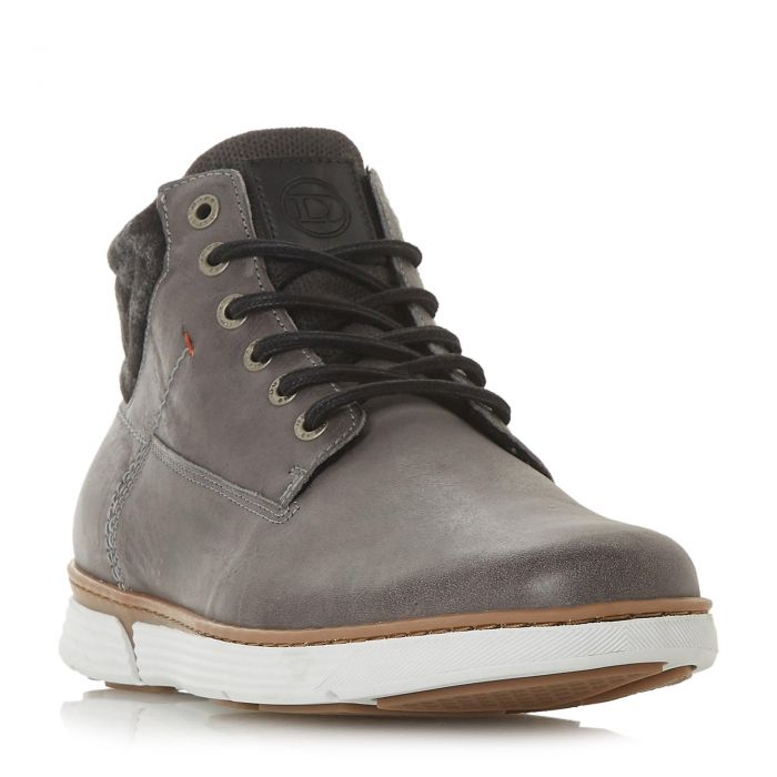 Image for Dune Mens CAPSICUM Contrast Panel Chukka Boot