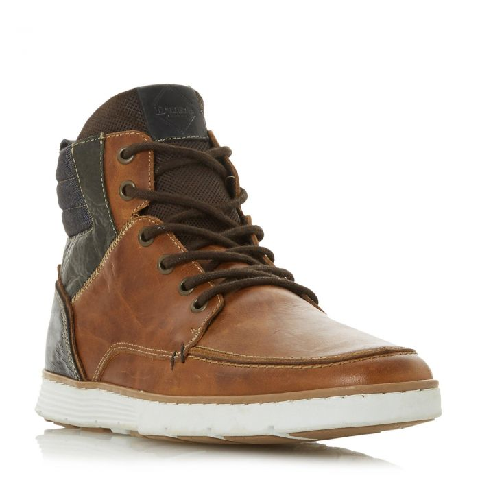 Image for Dune Mens CARRICKS Contrast Collar Lace Up Boot
