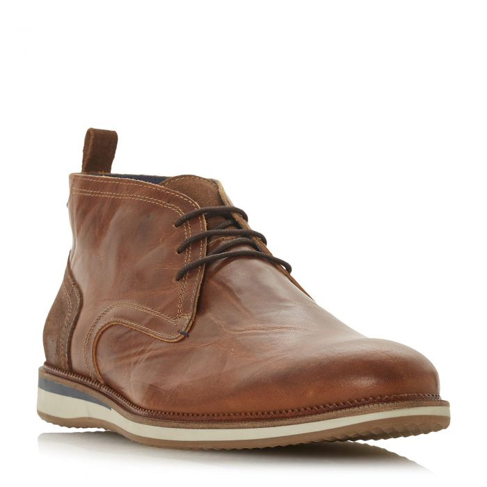 Image for Dune Mens CAYENNE Contrast Heel Panel Chukka Boot