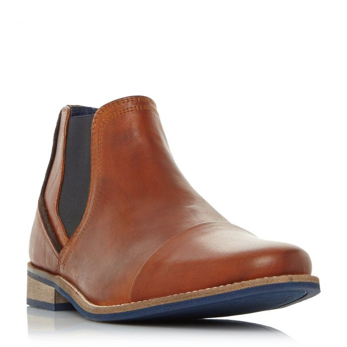 Image for Dune Mens CHIVE 1 Stitched Toecap Chelsea Boot
