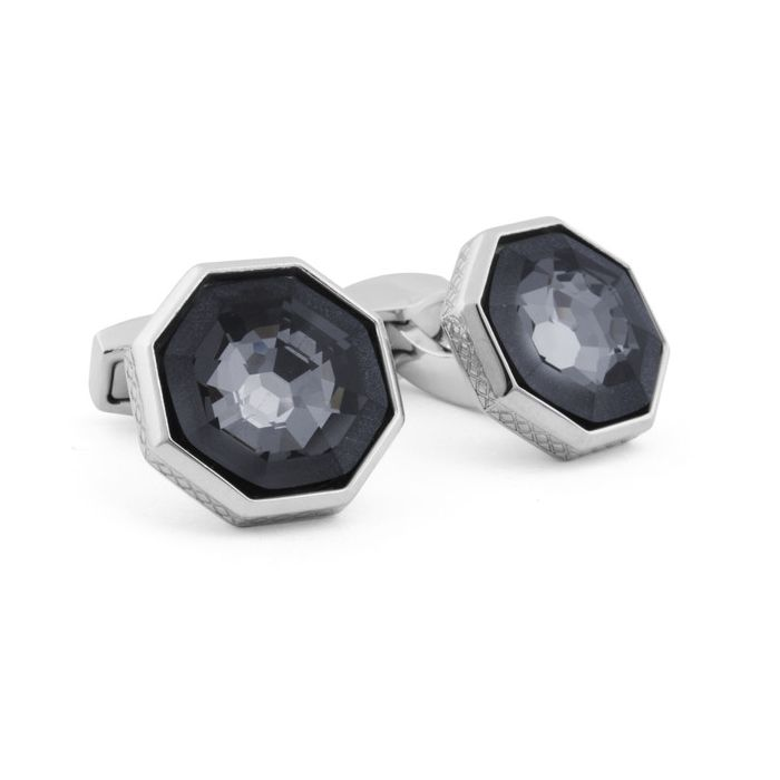 Image for Frosted Web swarovski cufflinks
