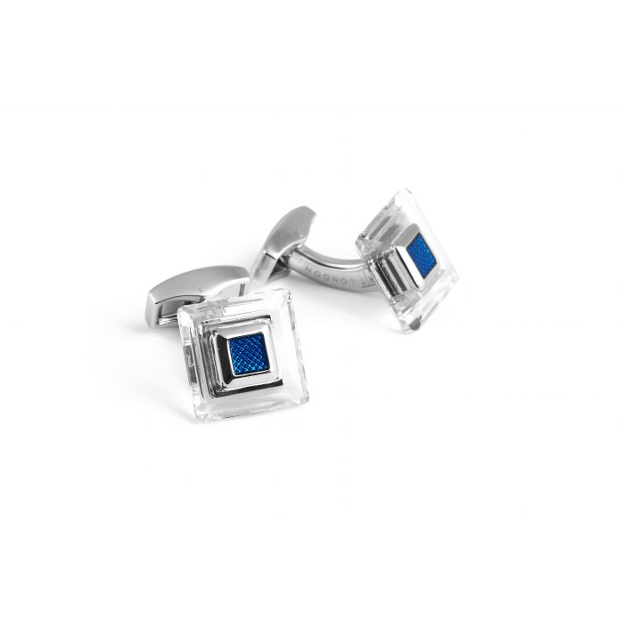 Image for Swarovski frame blue cufflinks