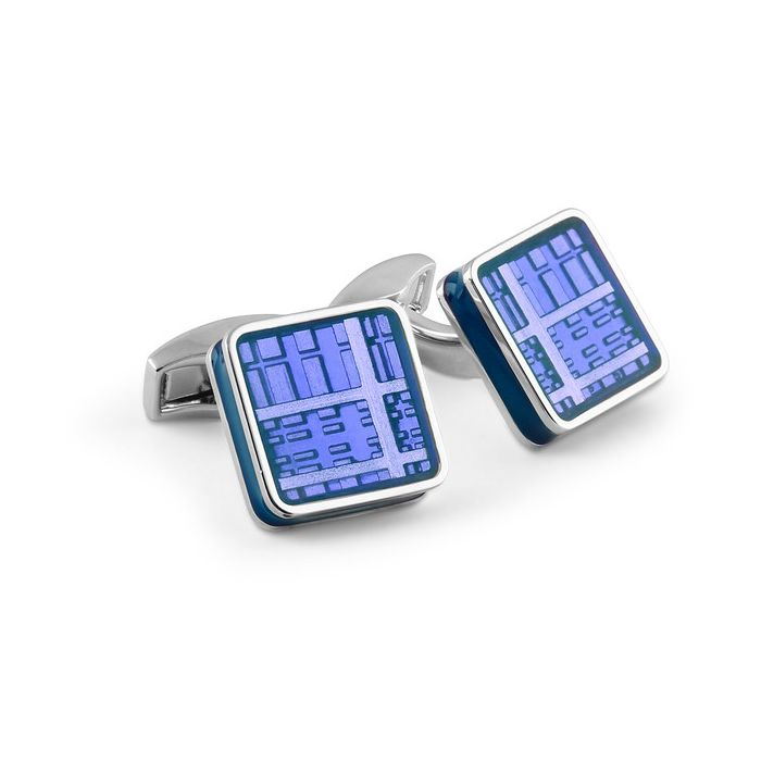 Image for Ice Tablet blue cufflinks