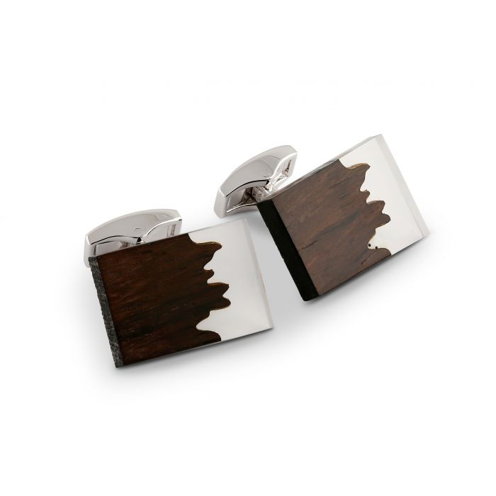 Image for Ebony Wood Fusion cufflinks