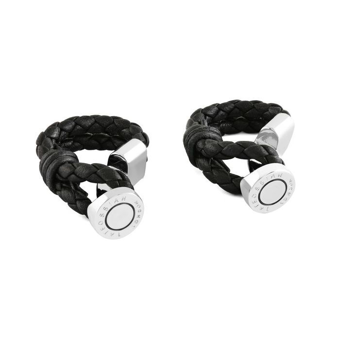 Image for Black wrap-around cufflinks