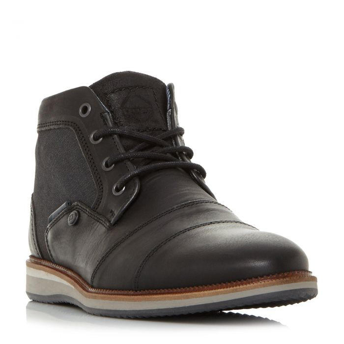 Image for Dune Mens CLIENT Mixed Material Lace Up Boot