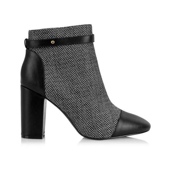 Image for Chester grey block heel boots