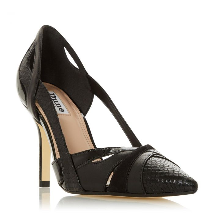 Image for Dune Ladies DAKOTA Two Part High Heel Court Shoe