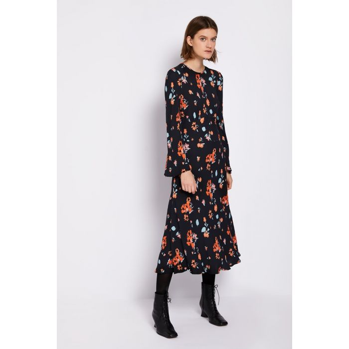 Image for Sophia Floral Print Crepe Dress