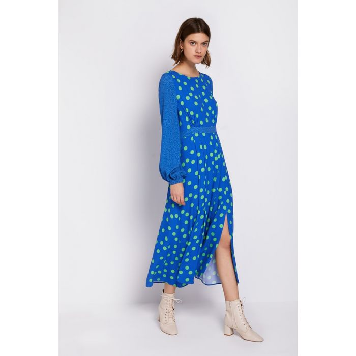 Image for Emily Mix and Match Spot Print Crepe Dress