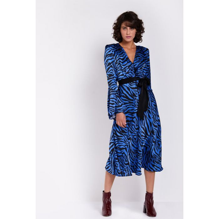 Image for Annabelle blue zebra print dress