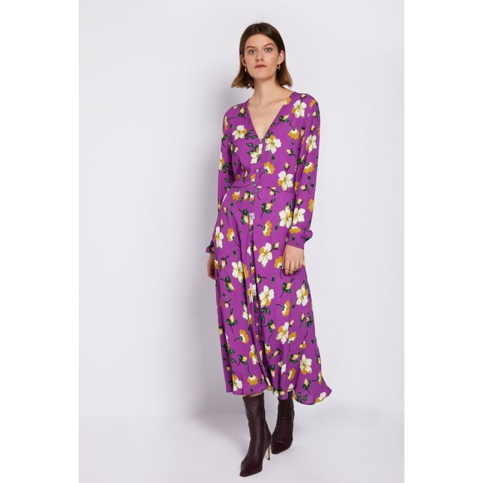 Image for Laura Floral Print Crepe Dress