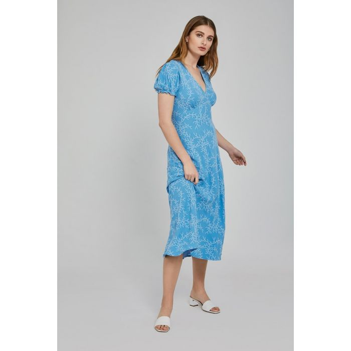 Image for Poet Blue Embriodered Crepe Dress