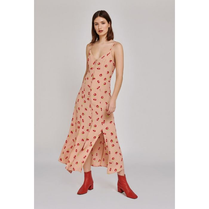 Image for Thea Floral Print Crepe Dress