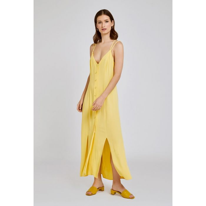 Image for Thea Yellow Crepe Dress