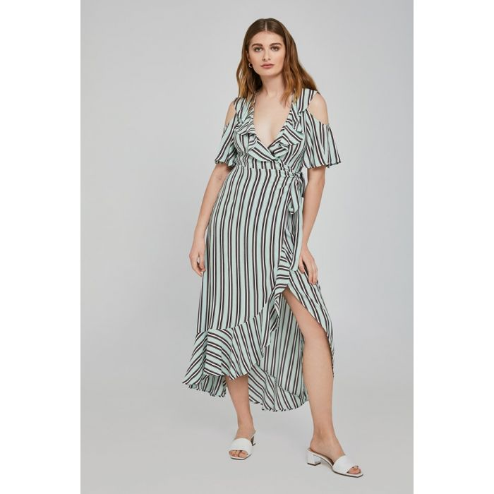 Image for Lydia Pepper Stripe print Crepe Dress