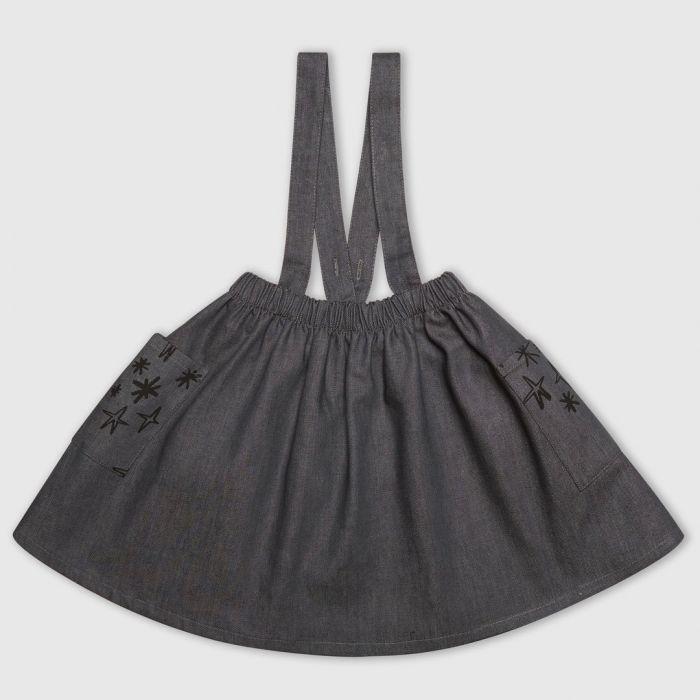 Image for Denim Star Pinafore Dress