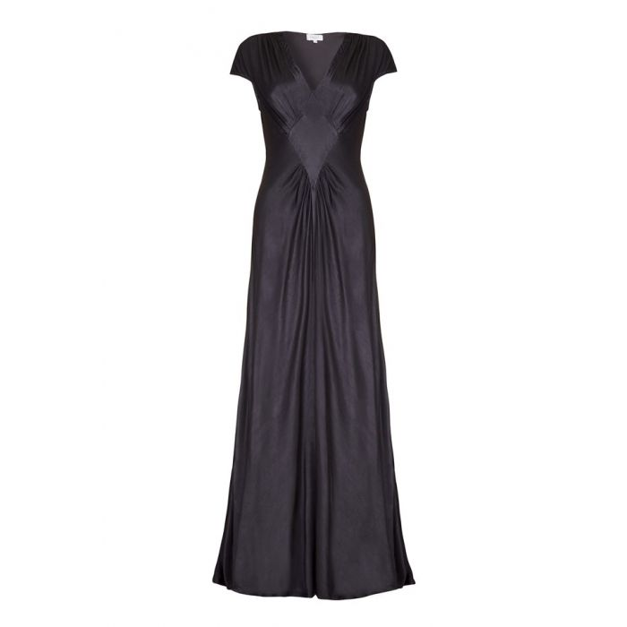 Image for Iris Charcoal Satin Occasion Dress