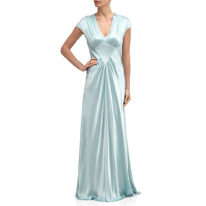 Image for Iris Sky Light Satin Occasion Dress
