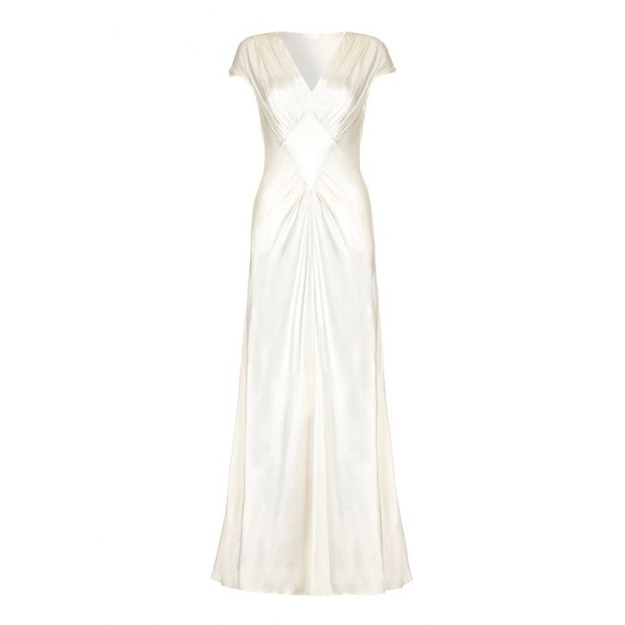 Image for Iris Ivory Satin Occasion Dress