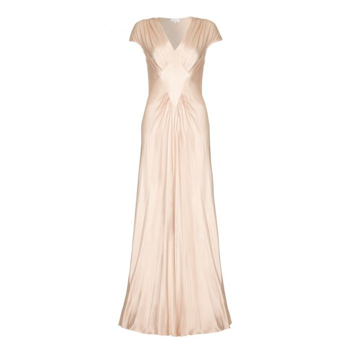 Image for Iris Oyster  Satin Occasion Dress