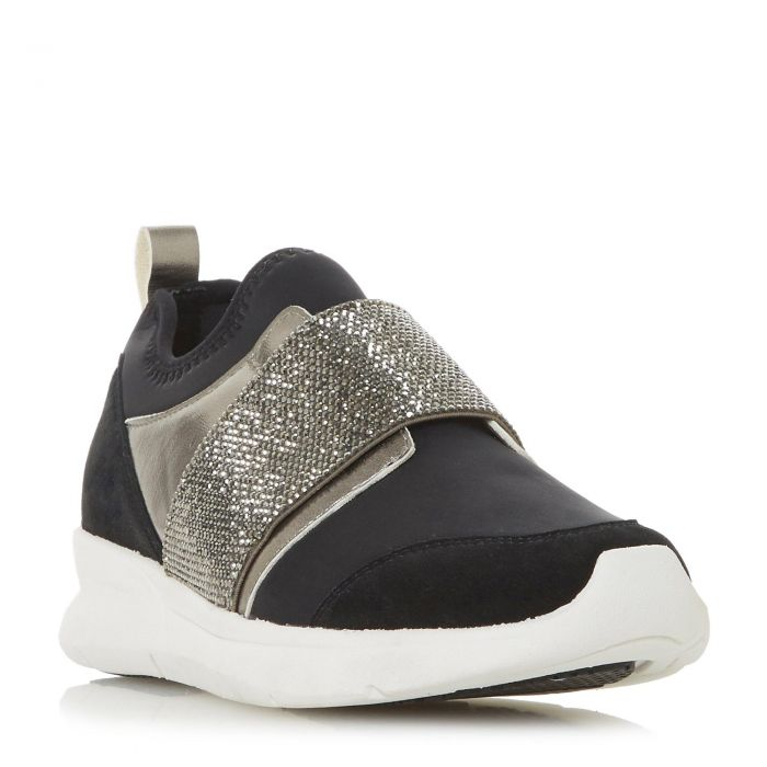 Image for Dune Ladies EXCITABLE Slip On Elastic Strap Trainer