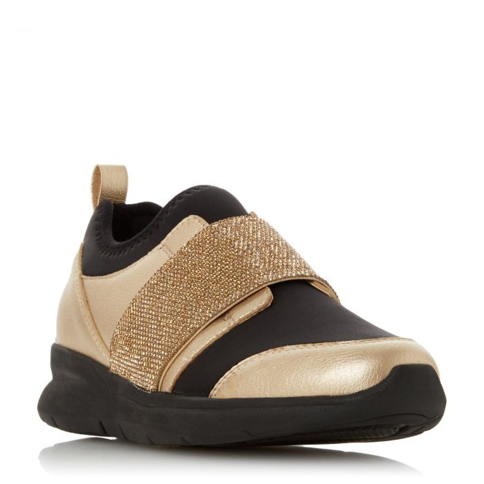 Image for Dune Ladies EXCITABLE S Gold Trainers