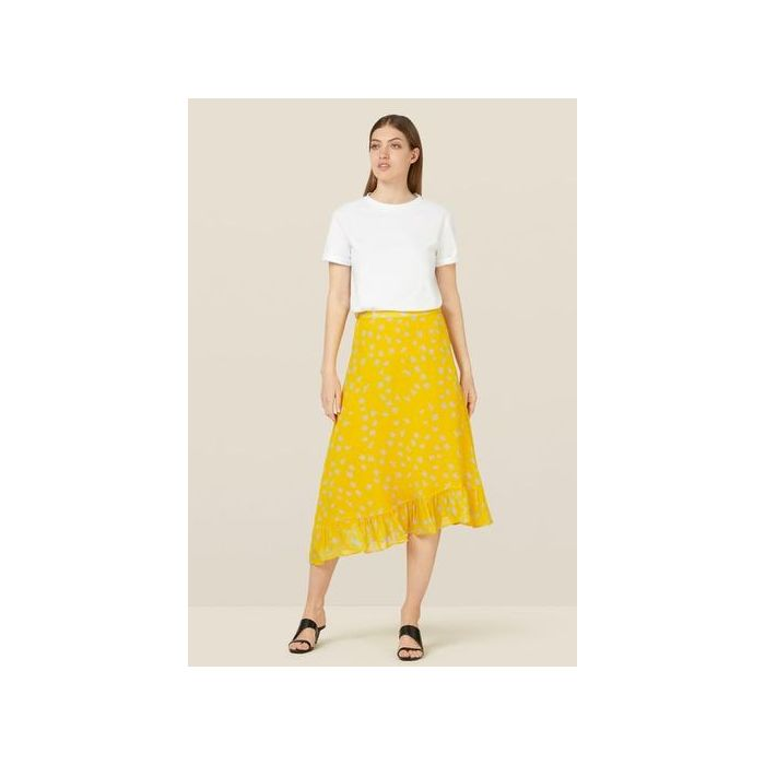 Image for Ebba Turmeric Floral Skirt - Yellow